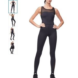 Good American Mixed Mesh Training Jumpsuit
